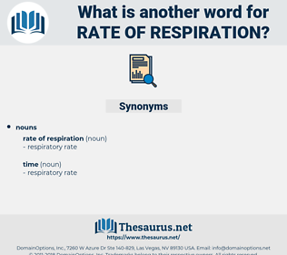 rate of respiration, synonym rate of respiration, another word for rate of respiration, words like rate of respiration, thesaurus rate of respiration