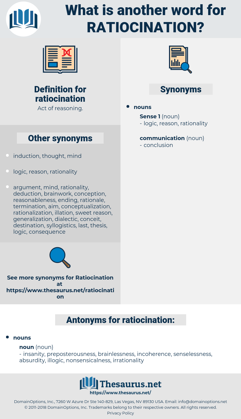 ratiocination, synonym ratiocination, another word for ratiocination, words like ratiocination, thesaurus ratiocination