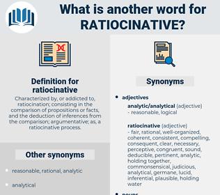 ratiocinative, synonym ratiocinative, another word for ratiocinative, words like ratiocinative, thesaurus ratiocinative