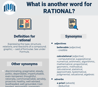 rational, synonym rational, another word for rational, words like rational, thesaurus rational