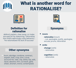 rationalise, synonym rationalise, another word for rationalise, words like rationalise, thesaurus rationalise