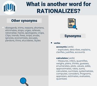 rationalizes, synonym rationalizes, another word for rationalizes, words like rationalizes, thesaurus rationalizes