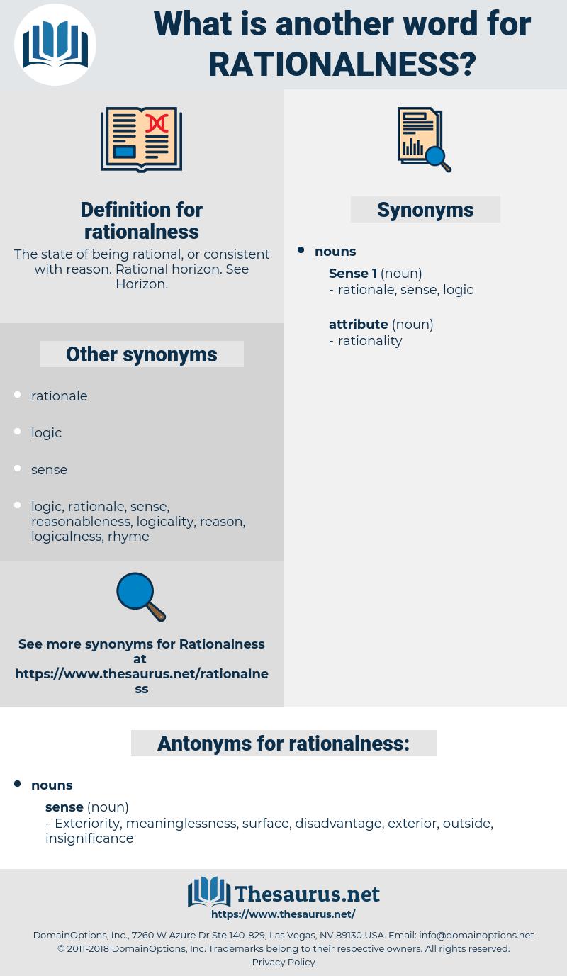 rationalness, synonym rationalness, another word for rationalness, words like rationalness, thesaurus rationalness