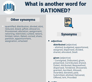 rationed, synonym rationed, another word for rationed, words like rationed, thesaurus rationed