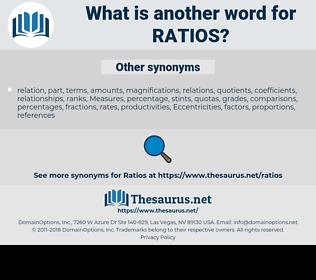 ratios, synonym ratios, another word for ratios, words like ratios, thesaurus ratios