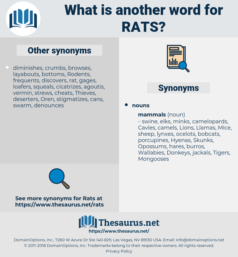 Rats, synonym Rats, another word for Rats, words like Rats, thesaurus Rats