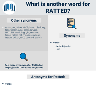 Ratted, synonym Ratted, another word for Ratted, words like Ratted, thesaurus Ratted