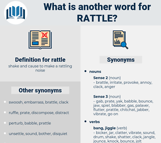rattle, synonym rattle, another word for rattle, words like rattle, thesaurus rattle