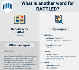 rattled, synonym rattled, another word for rattled, words like rattled, thesaurus rattled