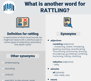 rattling, synonym rattling, another word for rattling, words like rattling, thesaurus rattling