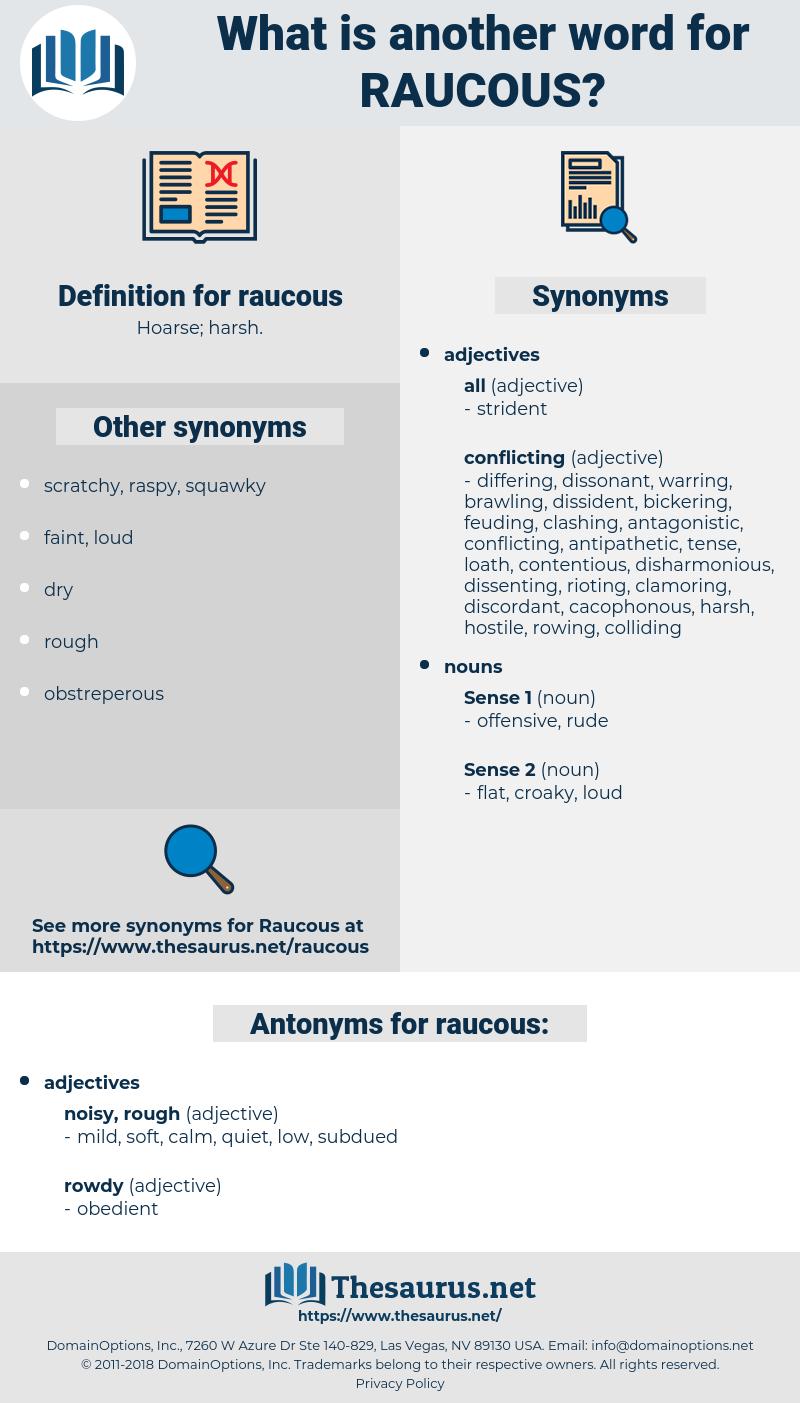 raucous, synonym raucous, another word for raucous, words like raucous, thesaurus raucous