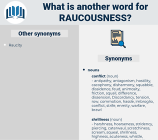 raucousness, synonym raucousness, another word for raucousness, words like raucousness, thesaurus raucousness