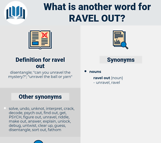 ravel out, synonym ravel out, another word for ravel out, words like ravel out, thesaurus ravel out