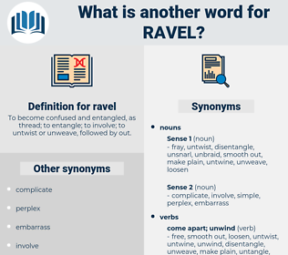 ravel, synonym ravel, another word for ravel, words like ravel, thesaurus ravel