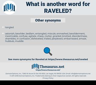 Raveled, synonym Raveled, another word for Raveled, words like Raveled, thesaurus Raveled