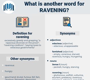 ravening, synonym ravening, another word for ravening, words like ravening, thesaurus ravening