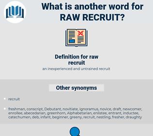raw recruit, synonym raw recruit, another word for raw recruit, words like raw recruit, thesaurus raw recruit