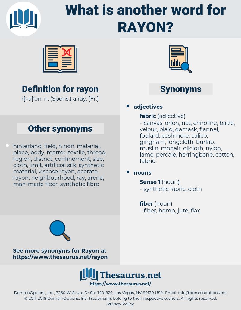 rayon, synonym rayon, another word for rayon, words like rayon, thesaurus rayon