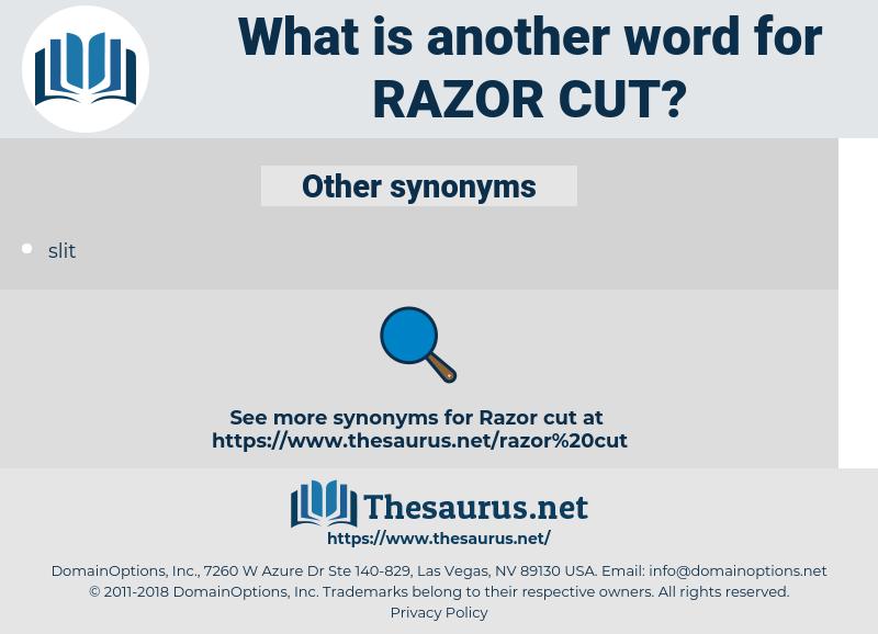 razor cut, synonym razor cut, another word for razor cut, words like razor cut, thesaurus razor cut