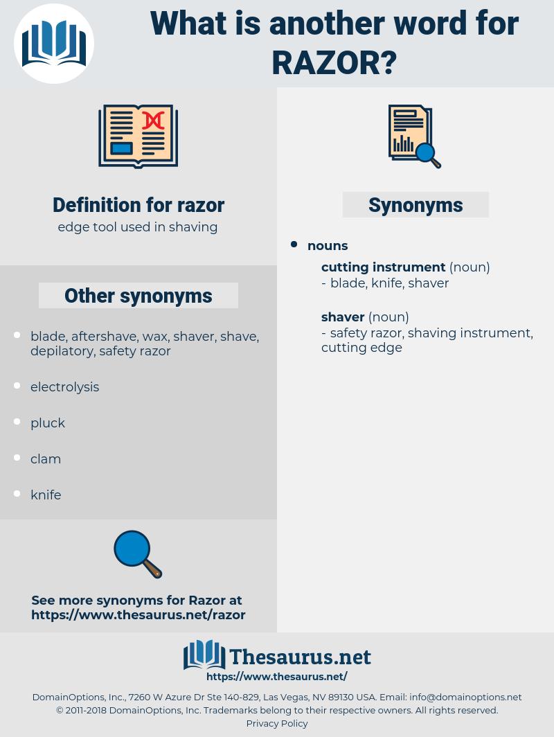 razor, synonym razor, another word for razor, words like razor, thesaurus razor