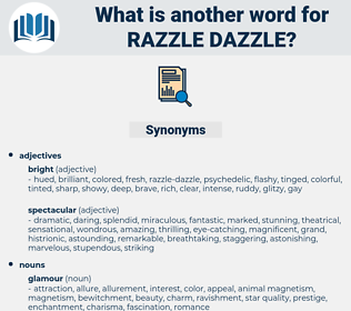 razzle-dazzle, synonym razzle-dazzle, another word for razzle-dazzle, words like razzle-dazzle, thesaurus razzle-dazzle