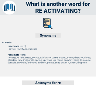 re activating, synonym re activating, another word for re activating, words like re activating, thesaurus re activating