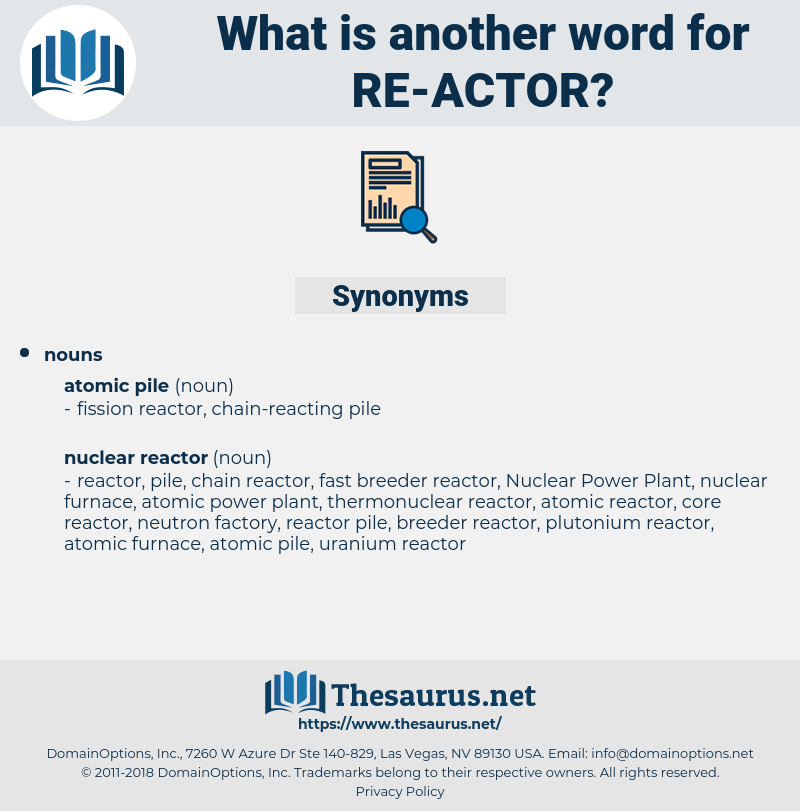 re actor, synonym re actor, another word for re actor, words like re actor, thesaurus re actor