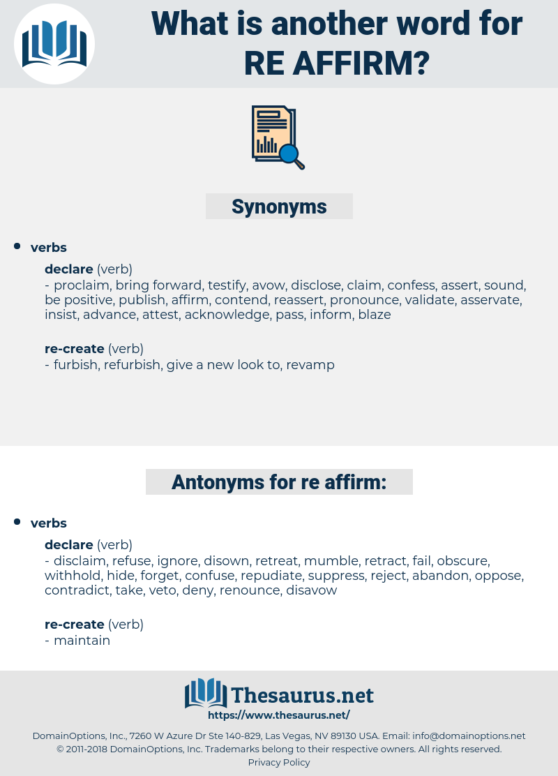 re-affirm, synonym re-affirm, another word for re-affirm, words like re-affirm, thesaurus re-affirm