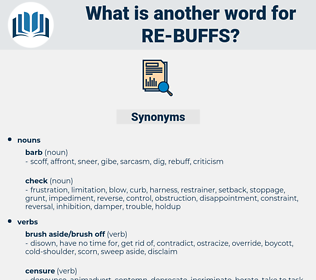 re-buffs, synonym re-buffs, another word for re-buffs, words like re-buffs, thesaurus re-buffs