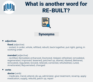 re-built, synonym re-built, another word for re-built, words like re-built, thesaurus re-built