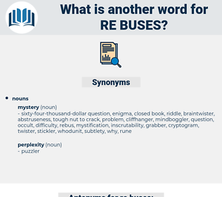 re buses, synonym re buses, another word for re buses, words like re buses, thesaurus re buses