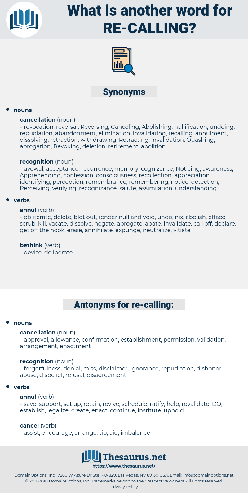 re calling, synonym re calling, another word for re calling, words like re calling, thesaurus re calling