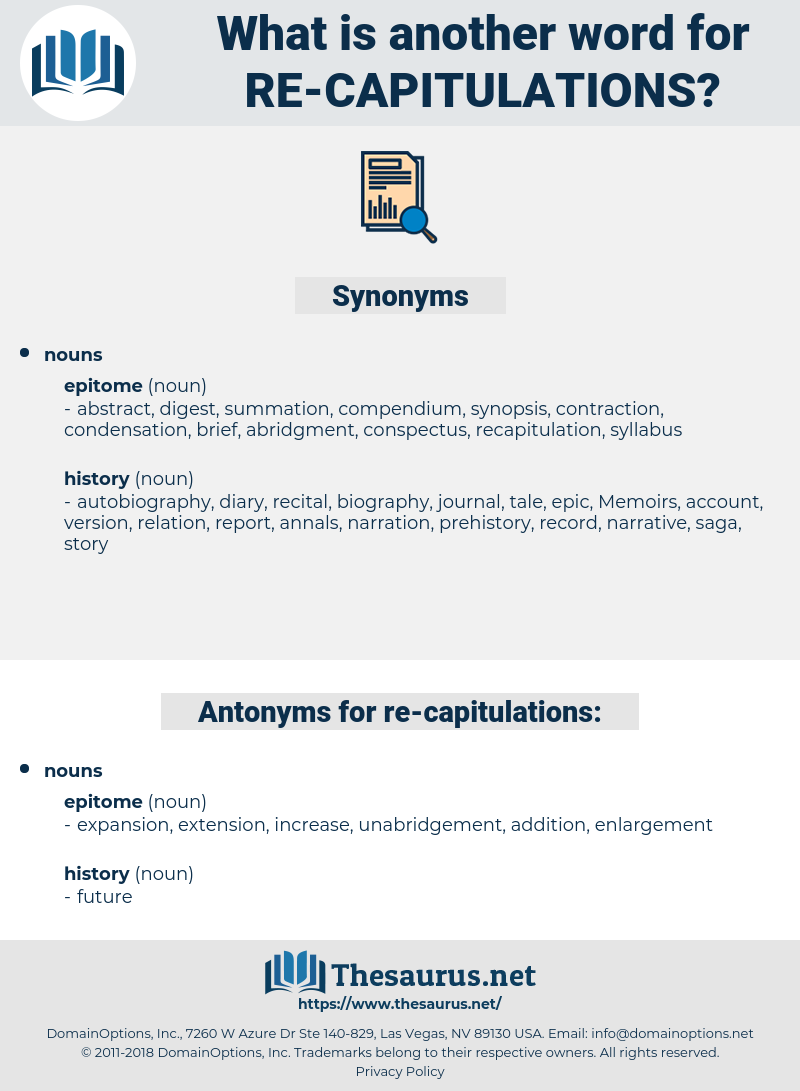 re capitulations, synonym re capitulations, another word for re capitulations, words like re capitulations, thesaurus re capitulations