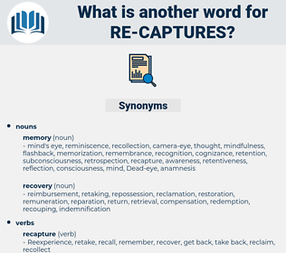 re captures, synonym re captures, another word for re captures, words like re captures, thesaurus re captures