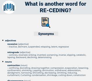 re ceding, synonym re ceding, another word for re ceding, words like re ceding, thesaurus re ceding