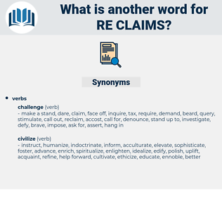 re-claims, synonym re-claims, another word for re-claims, words like re-claims, thesaurus re-claims