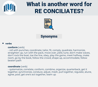 re-conciliates, synonym re-conciliates, another word for re-conciliates, words like re-conciliates, thesaurus re-conciliates
