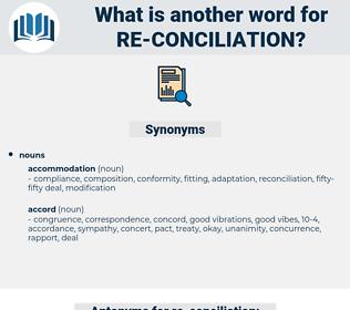 re-conciliation, synonym re-conciliation, another word for re-conciliation, words like re-conciliation, thesaurus re-conciliation