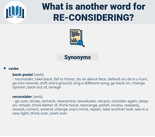 re considering, synonym re considering, another word for re considering, words like re considering, thesaurus re considering