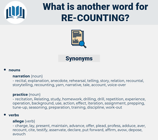re counting, synonym re counting, another word for re counting, words like re counting, thesaurus re counting