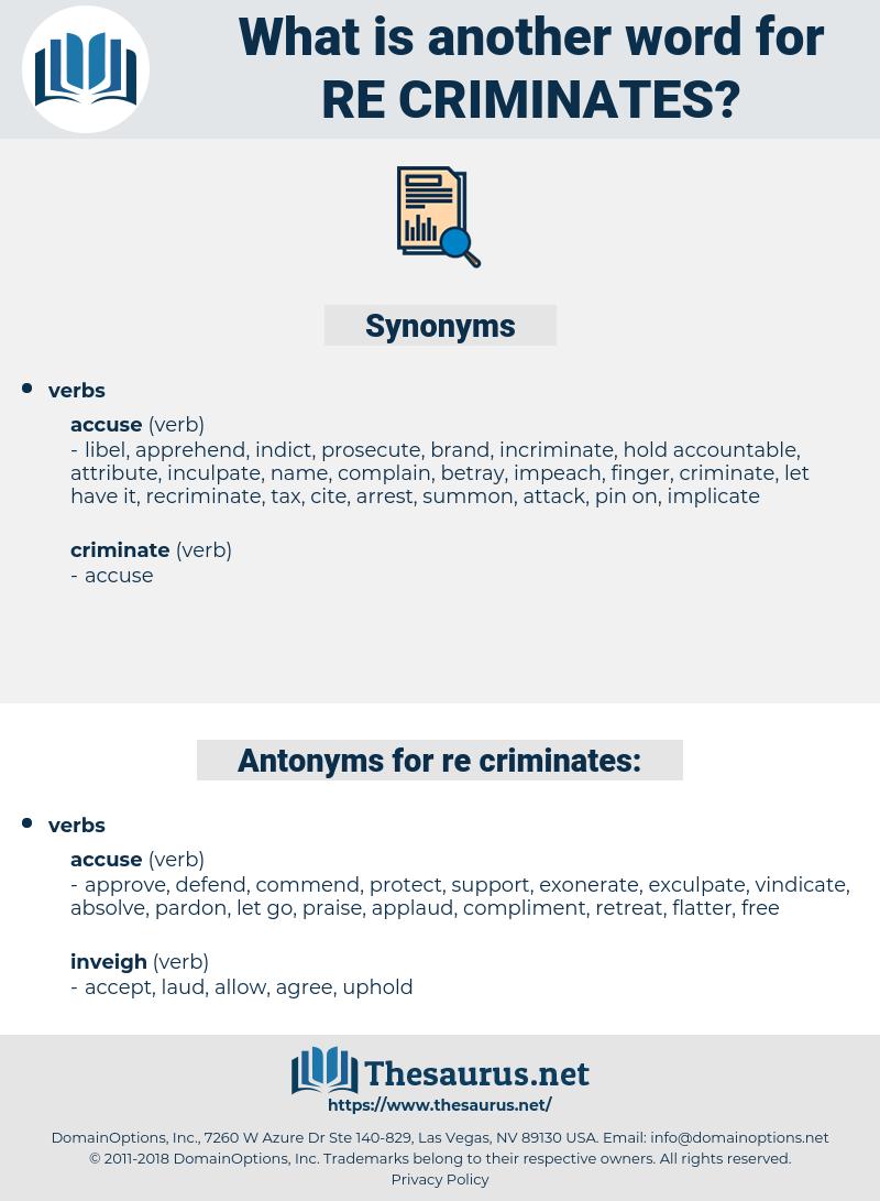 re criminates, synonym re criminates, another word for re criminates, words like re criminates, thesaurus re criminates