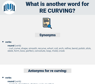 re-curving, synonym re-curving, another word for re-curving, words like re-curving, thesaurus re-curving