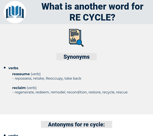 re-cycle, synonym re-cycle, another word for re-cycle, words like re-cycle, thesaurus re-cycle