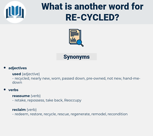 re cycled, synonym re cycled, another word for re cycled, words like re cycled, thesaurus re cycled