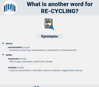 re cycling, synonym re cycling, another word for re cycling, words like re cycling, thesaurus re cycling