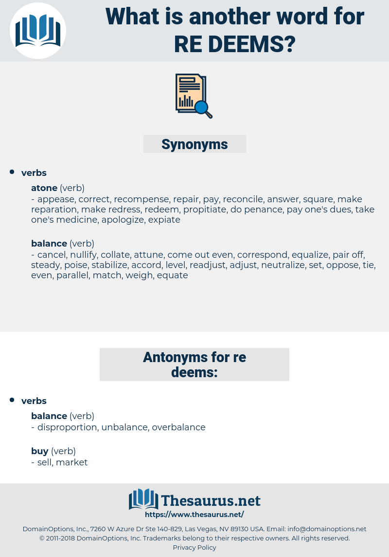 re-deems, synonym re-deems, another word for re-deems, words like re-deems, thesaurus re-deems