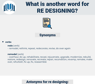 re designing, synonym re designing, another word for re designing, words like re designing, thesaurus re designing