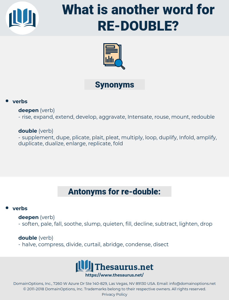 re double, synonym re double, another word for re double, words like re double, thesaurus re double