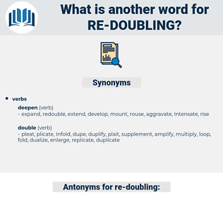 re doubling, synonym re doubling, another word for re doubling, words like re doubling, thesaurus re doubling