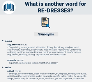 re dresses, synonym re dresses, another word for re dresses, words like re dresses, thesaurus re dresses
